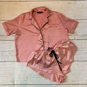 ASOS Pink Flirty Pajama Set